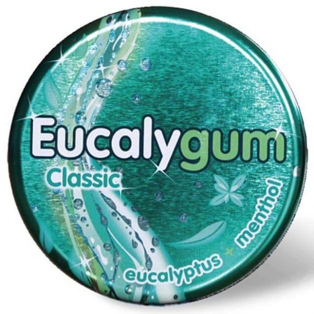 Tilman Eucalygum Classic Eucalyptus & Menthol Φαρμακευτική Τσίχλα που Διευκολύνει την Αναπνοή με Ευχάριστη Δροσερή Γεύση 32gr