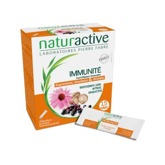 Naturactive Immunite Μοναδικός Συνδυασμός Σαμπούκου, Εχινάκειας & Σιτάκε για Δύναμη & Τόνωση του Ανοσοποιητικού  15sachets