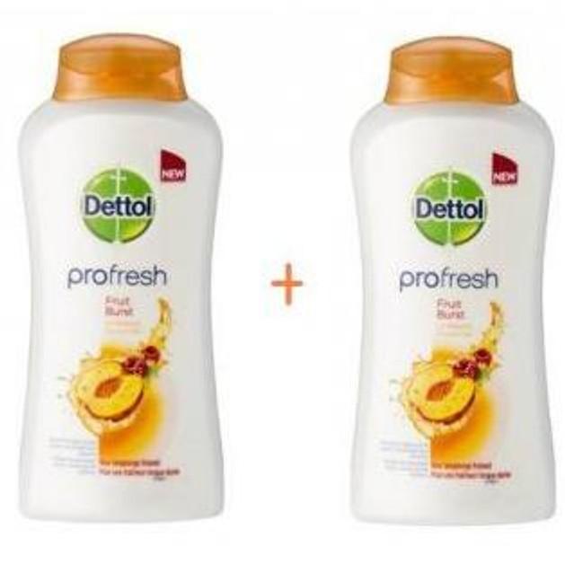 Dettol Profresh Fruit Burst Αφροντους  Με Άισθημα Φρεσκάδας 1+1 ΔΩΡΟ 500ml