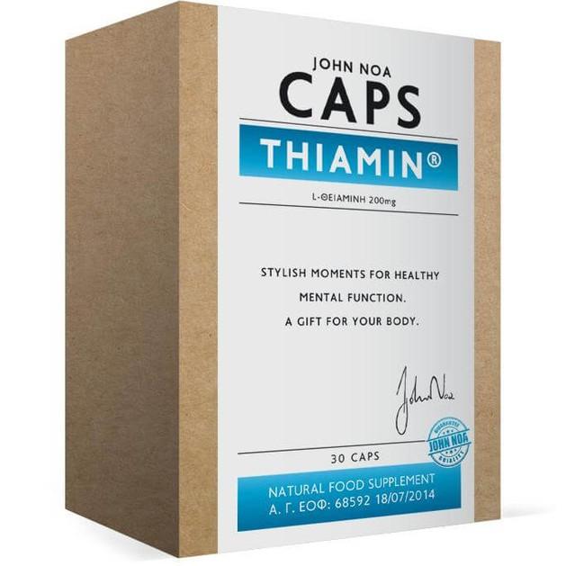 John Noa Caps Thiamin Συμπλήρωμα Διατροφής Βιταμίνης Β1 (Θειαμίνη), Ενίσχυση του Νευρικού Συστήματος 30 Κάψουλες