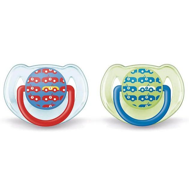 Avent Freeflow Μοντέρνα Ορθοδοντική Πιπίλα Σιλικόνης 6-18 Μηνών 2 τεμαχια  SCF172/22