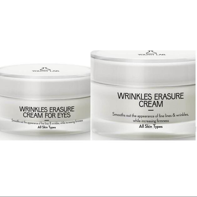 YOUTH LAB Promo Pack Wrinkles Erasure Cream Αντιρυτιδική Φροντίδα Προσώπου 50ml &-50% Wrinkles Erasure Κρέμα Ματιών All Skin15ml