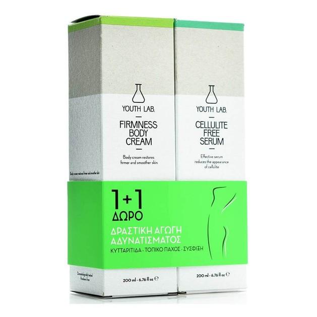 YOUTH LAB Firmness Body Cream 200ml & Cellulite Free Serum 200ml Δραστική Αγωγή Αδυνατίσματος, Κυτταρίτιδας, Σύσφιξης  1+1 ΔΩΡΟ