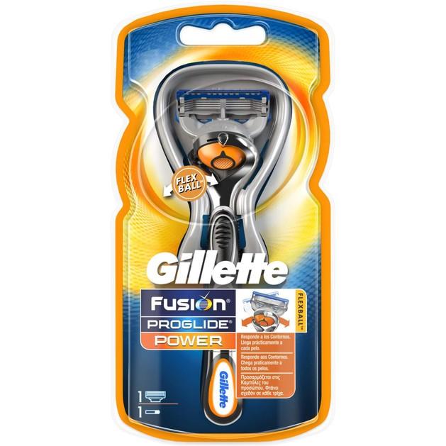 Gillette Proglide Flexball Power Προσαρμόζεται στις Καμπύλες του Προσώπου για Καλύτερο Αποτέλεσμα 1 τεμάχιο