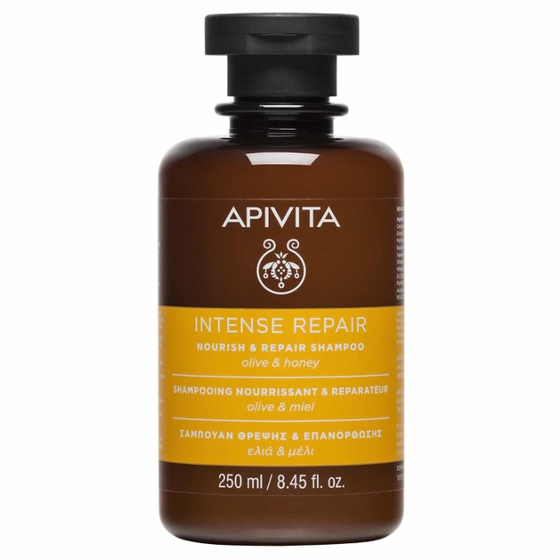 Apivita Nourish & Repair Shampoo With Olive & Honey 250ml