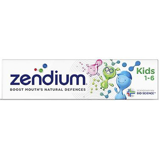 Zendium Παιδική Οδοντόκρεμα για Ηλικίες από 1-6 Ετών 75ml