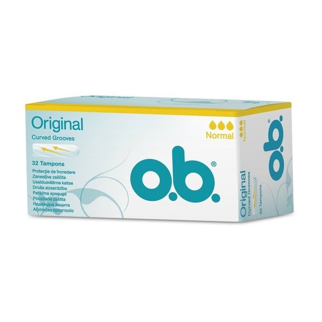 O.b. Original Normal Ταμπόν για Ημέρες με Μικρή Έως Μέτρια Ροή 32 Τεμάχια