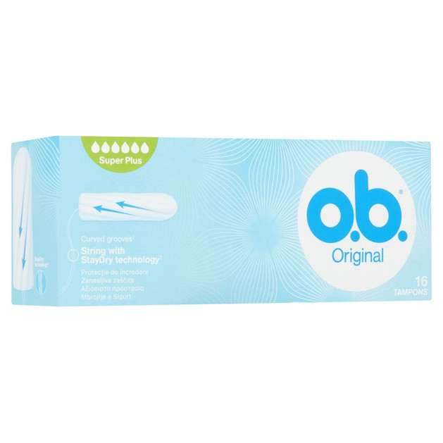 O.b. Original Super Plus Ταμπόν για Ημέρες με Μεγάλη Έως Πολύ Μεγάλη Ροή 16 Τεμάχια