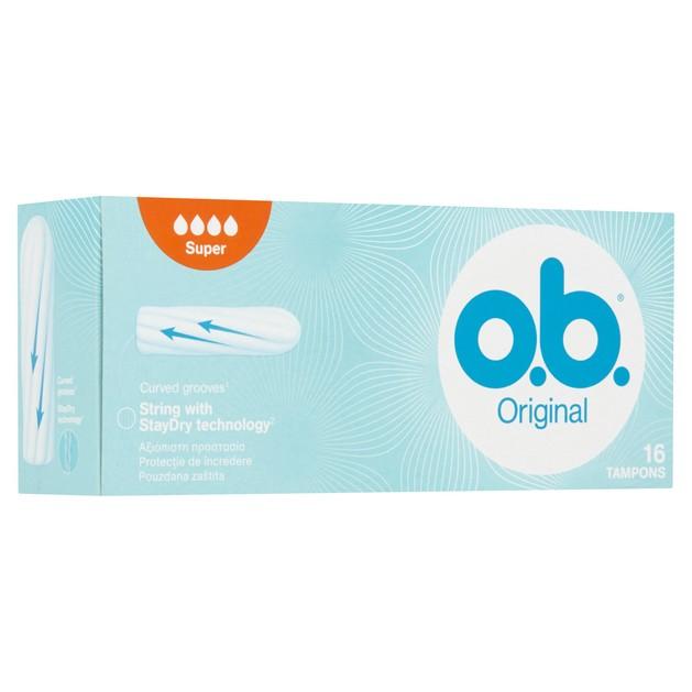 O.b. Original Super Ταμπόν για Ημέρες με Μέτρια Έως Μεγάλη Ροή 16 Τεμάχια