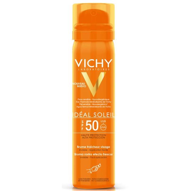 Vichy Ideal Soleil Brume Fraicheur Visage Spf50, 75ml