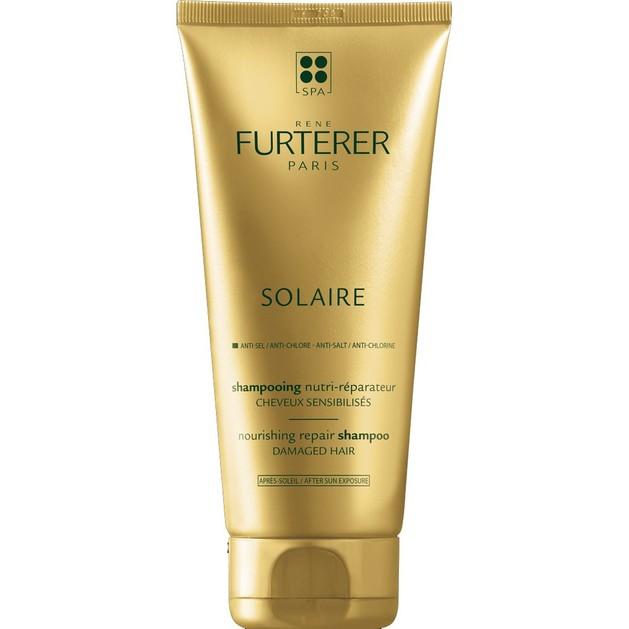 Rene Furterer Solaire Nourishing Repair Shampoo Επανορθωτικό Σαμπουάν Θρέψης για Μετά τον Ήλιο με Βούτυρο Φοίνικα 200ml