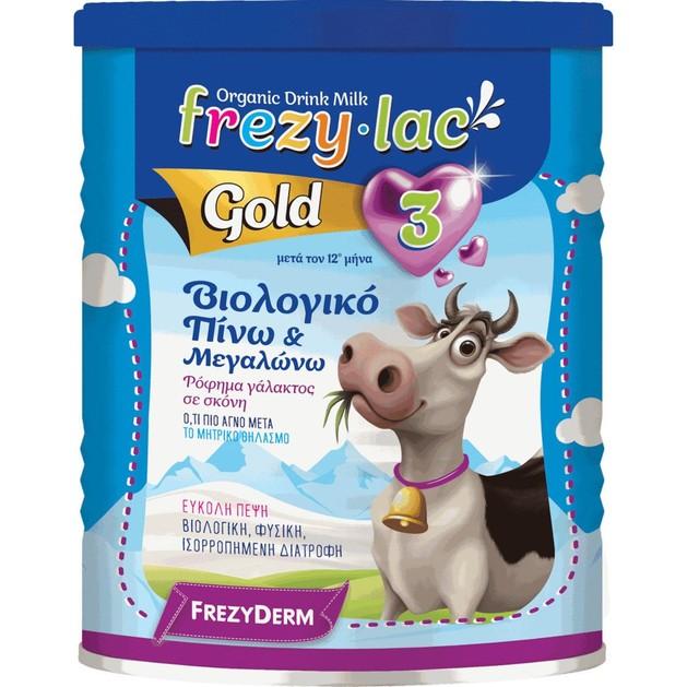 Frezyderm Frezylac Gold 3 Αγελαδινό Βιολογικό Γάλα 3ης Ηλικίας από τον 12ο Μήνα 400gr