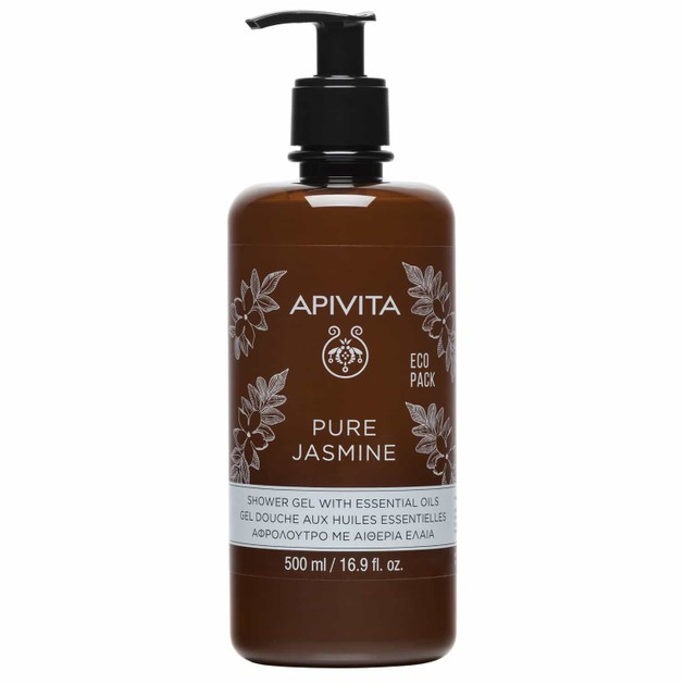 Apivita Pure Jasmine Shower Gel With Essential Oils 500ml