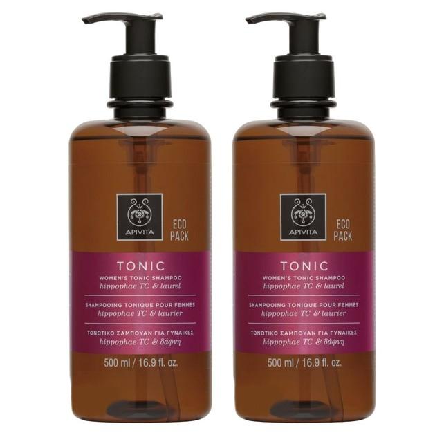 Apivita Πακέτο Προσφοράς Women\'s Tonic Shampoo Hippophae Tc & Laurel Σαμπουάν για Γυναίκες Κατά της Τριχόπτωσης 2x500ml 1+1 Δώρο