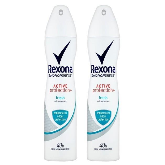 Rexona Πακέτο Προσφοράς Deodorant Spray Active Protection Fresh 48h Αποσμητικό Spray για Αίσθηση Φρεσκάδας που Διαρκεί 2x150ml