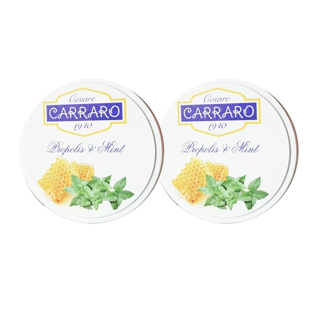 Carraro Πακέτο Προσφοράς Propolis & Mint Καραμέλες για το Λαιμό με Πρόπολη & Μέντα 2x40gr