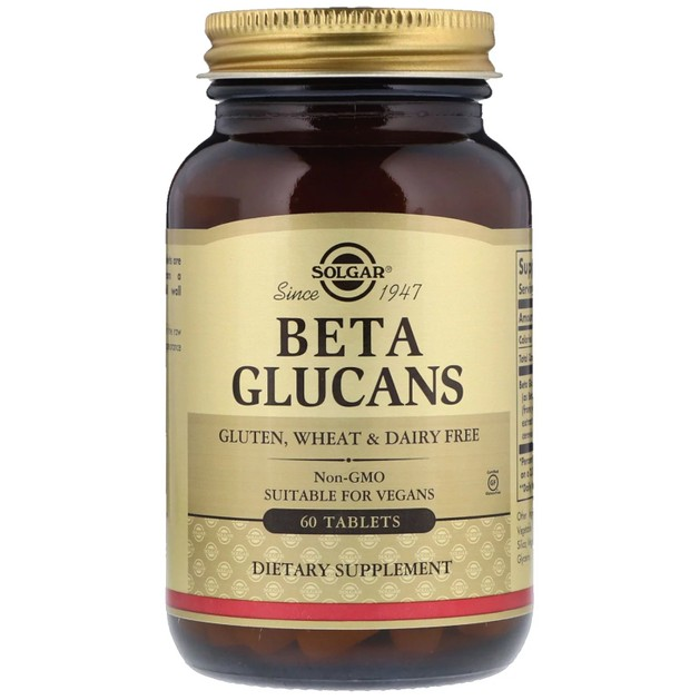 Solgar Beta Glucans Συμπλήρωμα Διατροφής, Αποτελεσματική Φόρμουλα για την Ενίσχυση του Ανοσοποιητικού Συστήματος 60 Tabs