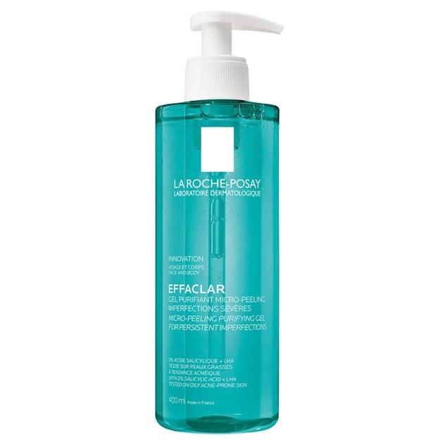 La Roche-Posay Effaclar Gel Purifiant Micro Peeling Gel για Επίμονες Ατέλειες & Δέρμα με Τάση Ακμής 400ml