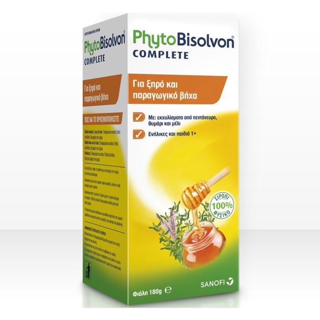 PhytoBisolvon Complete Φυσικό Σιρόπι για τον Ξηρό & Παραγωγικό Βήχα 180g