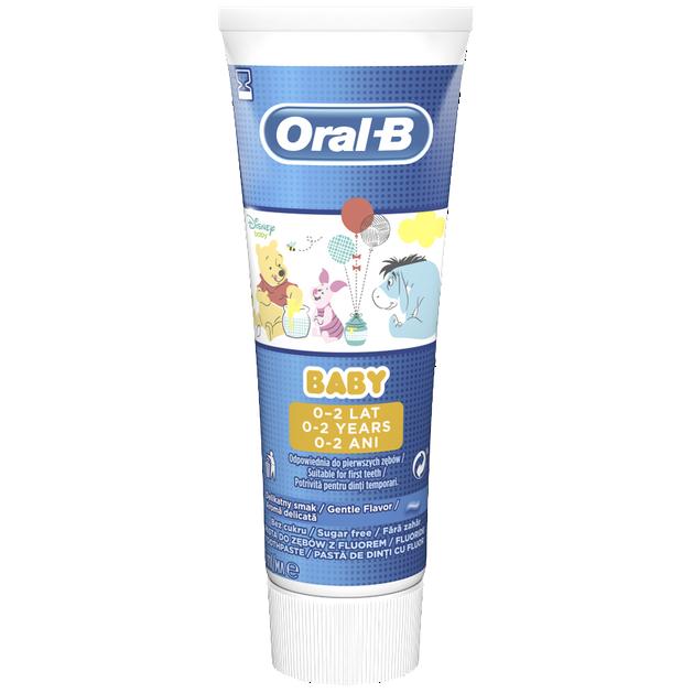 Oral-B Baby Toothpaste Οδοντόκρεμα Κατάλληλη για την Πρώτη Οδοντοφυία, 0-2 Ετών 75ml