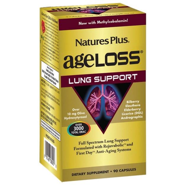 Nature\'s Plus Ageloss Lung Support Συμπλήρωμα Διατροφής για την Υποστήριξη τωνΠνευμόνων90 Κάψουλες