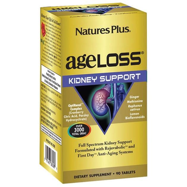 Nature\'s Plus Ageloss Kidney Support 90 Συμπλήρωμα Διατροφής για την Υποστήριξη των Νεφρών 90 Ταμπλέτες