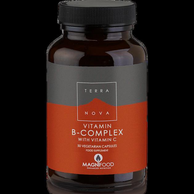 Terranova Vitamin B-Complex With Vitamin C Καινοτόμος Σύνθεση Βιταμινών του Συμπλέγματος Β για Μέγιστη Απορρόφηση 50caps