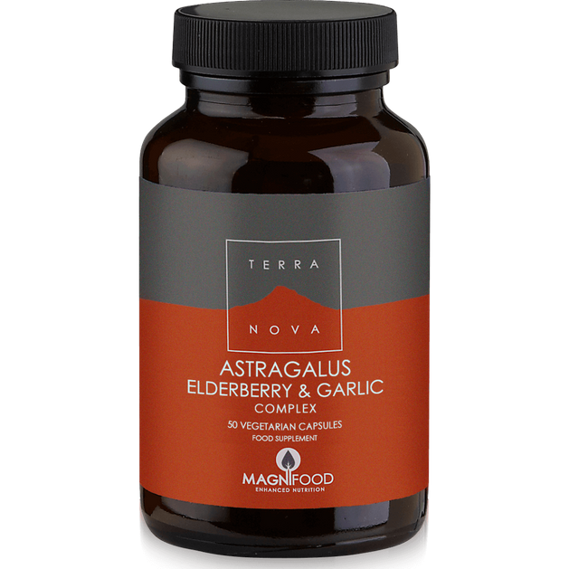 Terranova Astragalus,Elderberry & Garlic Complex Το Πιο Καινοτόμο & Πλήρες Συμπλήρωμα για Τόνωση Ανοσοποιητικού Συστήματος 50cap