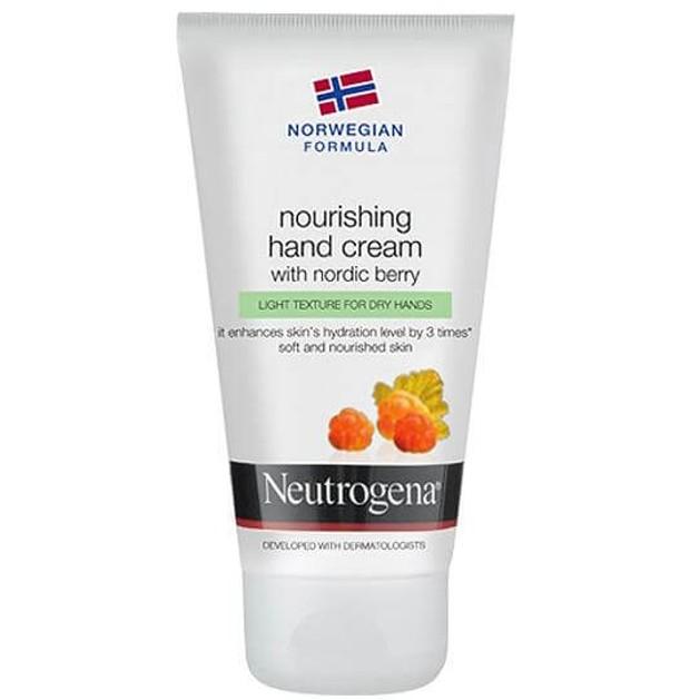 Neutrogena Hand Cream With Nordic Berry Υπερ-Ενυδατική Κρέμα Χεριών με Nordic Berry και Ελαφριά Υφή 75ml