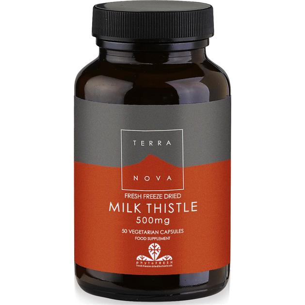 Terranova Milk Thistle 500mg Γαϊδουράγκαθο Φρέσκο για Αποτελεσματική Ηπατική Αποτοξινωτική Δράση 50caps