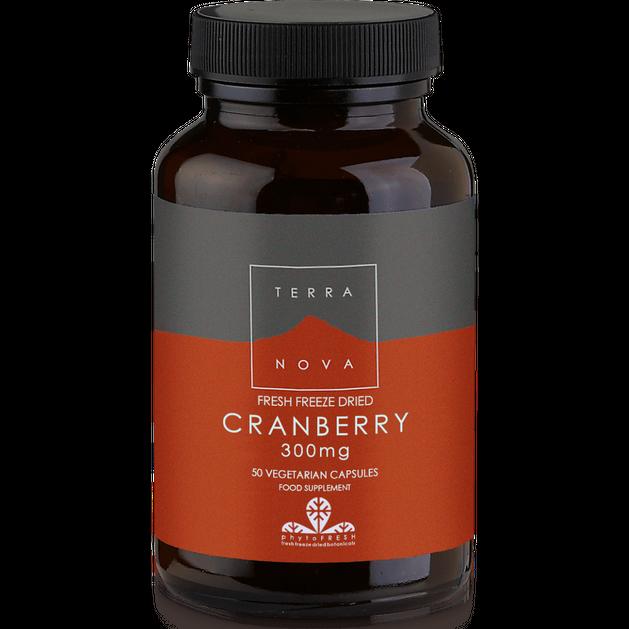 Terranova Cranberry 300mg Βιολογικά Κράνμπερρυ για Υγιές Ουροποιητικό 50caps