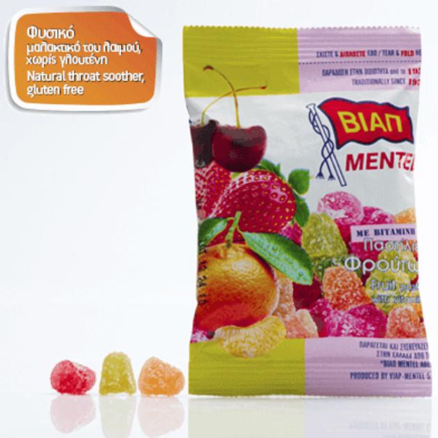 Βιαπ Mentel Παστίλιες Φρούτων με Βιταμίνη C