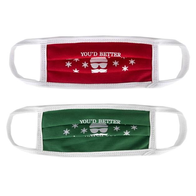 Work Safety PNOH Παιδικές Χριστουγεννιάτικες Υφασμάτινες Μάσκες Πολλαπλών Χρήσεων Από 6-12 Ετών 2 Τεμάχια