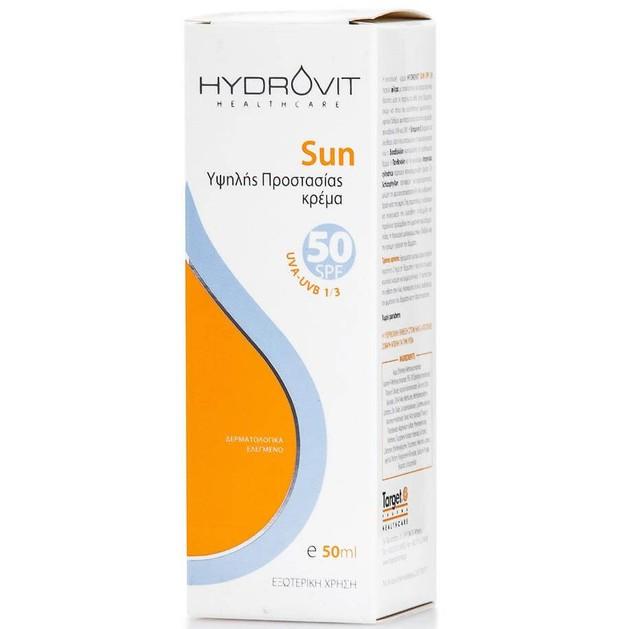 Hydrovit Sun Cream Spf50 Αντηλιακή Κρέμα Υψηλής Προστασίας 50ml
