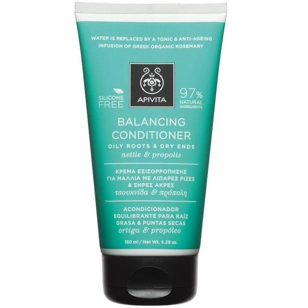 Balancing Conditioner For Oily Roots & Dry Ends With Nettle & Propolis 150ml - Apivita
