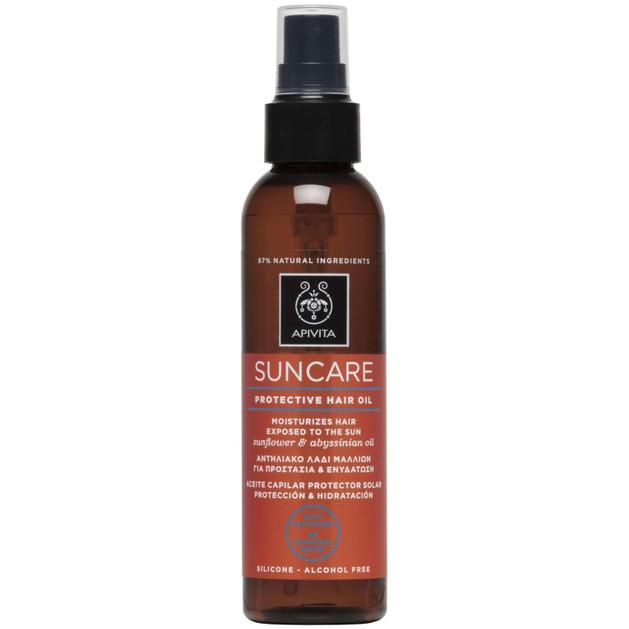 Apivita Suncare Protective Hair Oil With Sunflower & Abyssinian Oil 150ml