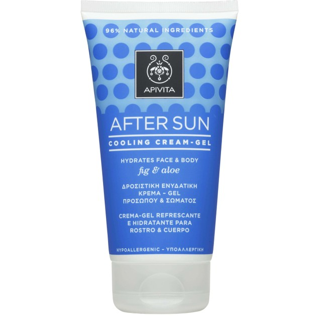 After Sun Cooling Cream Gel Face & Body With Fig & Aloe 150ml - Apivita