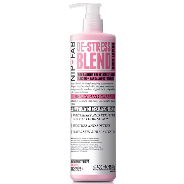 Nip + Fab De-Stress Blend Body Lotion Ενυδατική Κρέμα Σώματος με Χαλαρωτικό Άρωμα 490ml