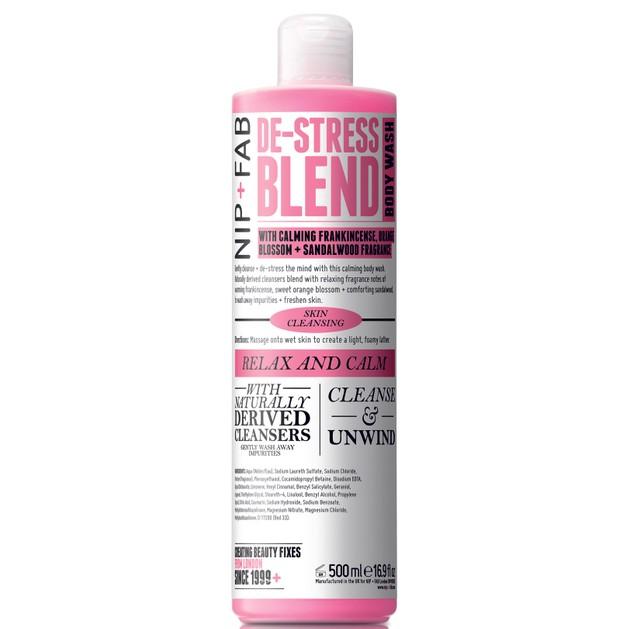 Nip + Fab De-Stress Blend Body Wash Αφρώδες Προϊόν Καθαρισμού Σώματος που Αποβάλλει το Άγχος και Χαλαρώνει Σώμα και Μυαλό 500ml
