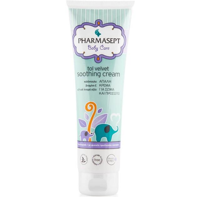 Δώρο Pharmasept Tol Velvet Baby Soothing Cream 100 % Φυσική Ενυδατική Κρέμα για το Πρόσωπο & το Σώμα του Μωρού 20ml