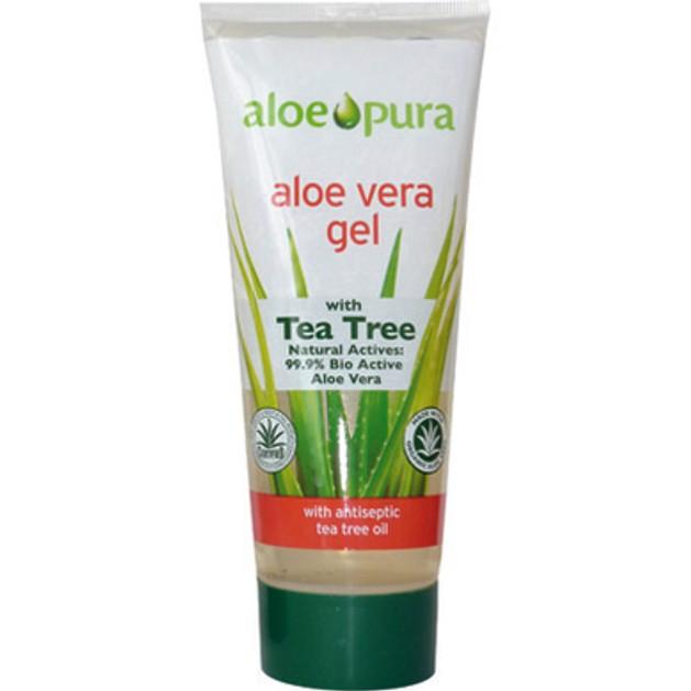 Optima Organic Aloe Vera Gel with Tea Tree 200ml