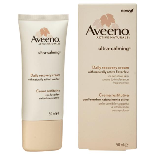 Aveeno Ultra-Calming Daily Recovery Cream Καταπραϋντική Κρέμα Προσώπου για την Ευαίσθητη Επιδερμίδα 50ml