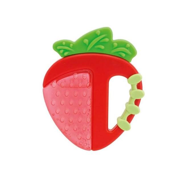 Chicco Κρίκος Οδοντοφυίας Φράουλα 4m+ 1τμχ