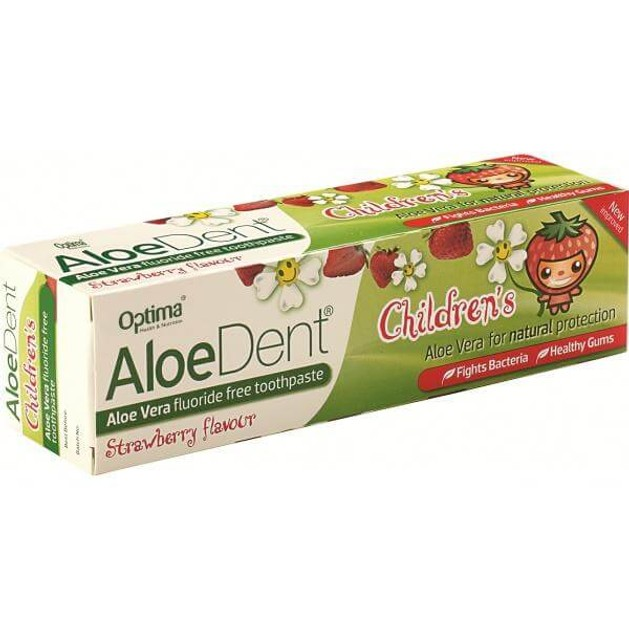 Optima Οδοντόκρεμα Aloe Dent Strawberry Children\'s 50ml