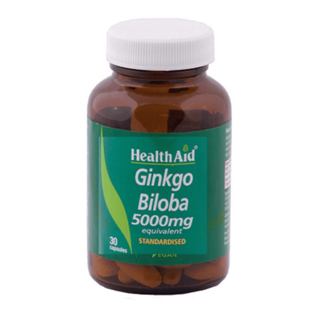 Gingko Biloba 5000mg 30caps - Health Aid