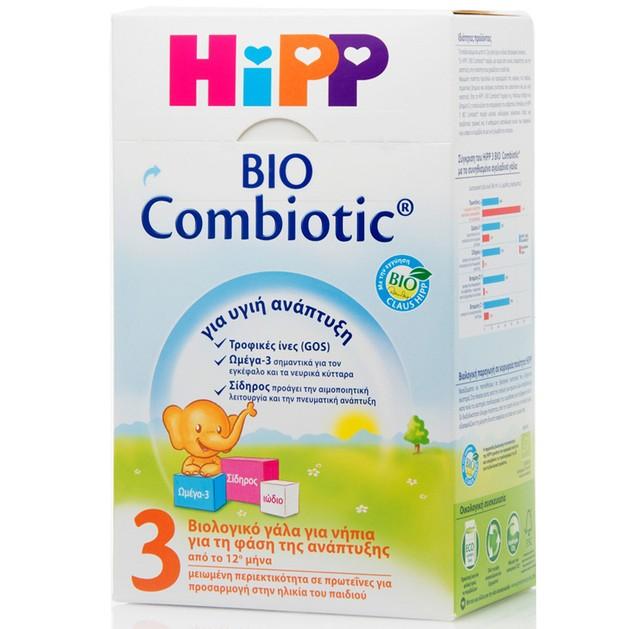 HiPP 3 Bio Combiotic Από Τον 12ο Μήνα 600gr