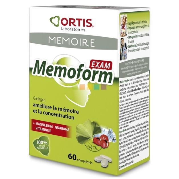Ortis Memoform Exam Συμπλήρωμα Διατροφής για την Ενίσχυση της Μνήμης & της Συγκέντρωσης 60Tabs