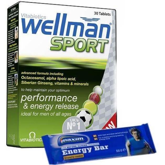 Vitabiotics Wellman Sport 30tabs & Δώρο 1 Maxim Energy Bar