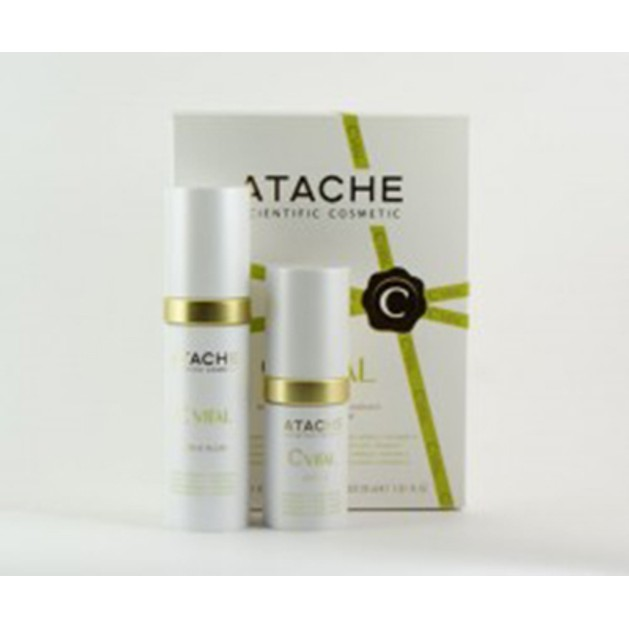 Atache C Vital Set Active Serum 15ml + Active Fluid  Αντιρυτιδική - Αντιγηραντική δράση 30ml