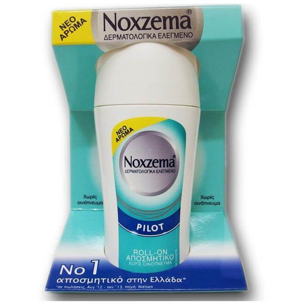 Noxzema Pilot Roll-on Αποσμητικό με Διακριτικό Αρρενωπό Άρωμα 50ml